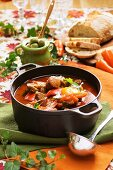 Sausage stew with peppers