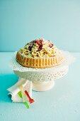 A spaghetti ice cream cake