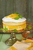 A layered lemon cake