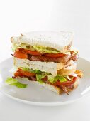 A stack of BLT sandwiches