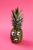 A pineapple with a face