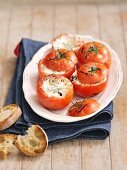 Stuffed grilled tomatoes