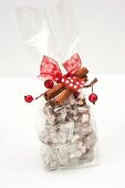 Rocky Road with nuts and cherries as a Christmas gift