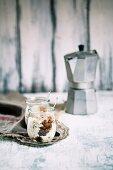 A glass of Sicilian granita al caffe con panna