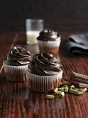 Chocolate cupcakes with cardamon