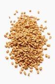 A pile of fenugreek seeds