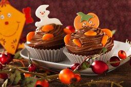Cupcakes für Halloween