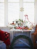 Christmas buffet in summerhouse