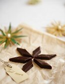 A Christmas chocolate toffee