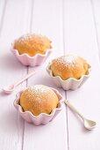 Buchteln (baked, sweet yeast dumplings) in muffin dishes