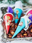 Festive honey-roasted salted nuts