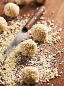 Vanilla truffle with coconut flakes