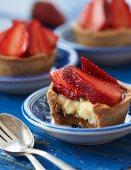Strawberry and vanilla tartlets