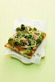 Tuna and broccoli pizza