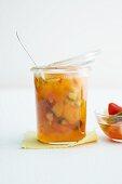 A jar of apricot piccalilli