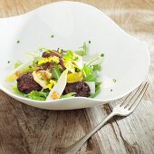 Chicory salad with black pudding