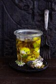 Preserved goat's cheese