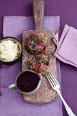 Veal fillet with elderberry sauce