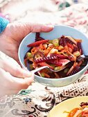 An autumnal salad with beetroot and apple