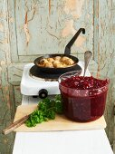 Meatballs and lingonberry jam