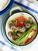 Meatballs in a coconut sauce