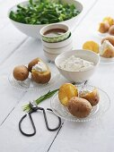 Boiled potatoes with quark