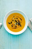 Pumpkin soup with madras curry