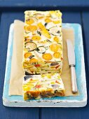 Vegetable terrine with courgettes, carrots, peppers, egg and cream