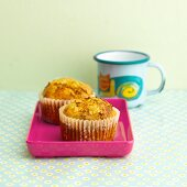 Spelt and apple muffins