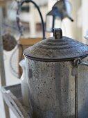 Old saucepan in kitchen