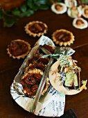 Caramel and pecan nut shortbread