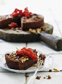 Ricotta cake with carrots and pine nuts