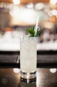 A peppermint cocktail
