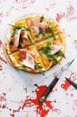 Pumpkin pizza with Prosciutto