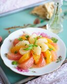 Citrus salad with rose water