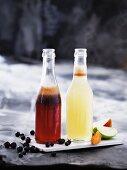 Freshly pressed fruit and vegetable juice