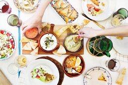 A Greek buffet