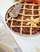 Pecan lattice pie for Thanksgiving