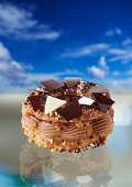 Paris Brest with chocolate cream and hazelnuts