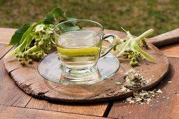 Lime flower tea