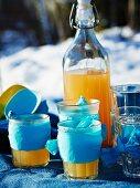Hot lemonade for a winter picnic