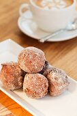 Cinnamon and raisin doughnuts