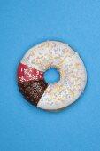 A pieced-together doughnut