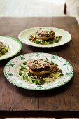 Puff pastries with wild mushrooms and nuts