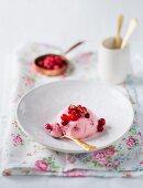 Bavarian cream with cranberries