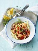 Macaroni with calamari and herbs