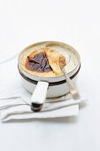 Oven-baked rice pudding