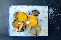 Beetroot in sea salt