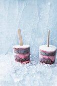 Frozen yoghurt with lavender