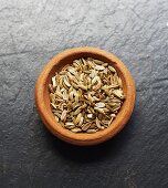 A bowl of fennel seeds